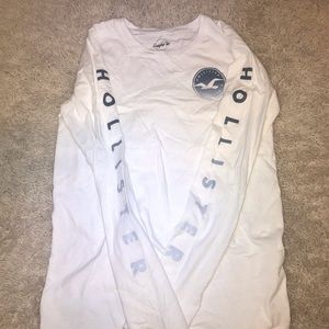 White long sleeve Hollister shirt